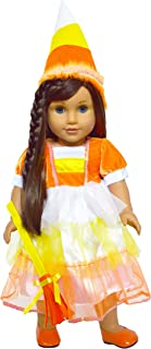 Brittany's My Candy Corn Witch Halloween Costume Compatible with American Girl Dolls