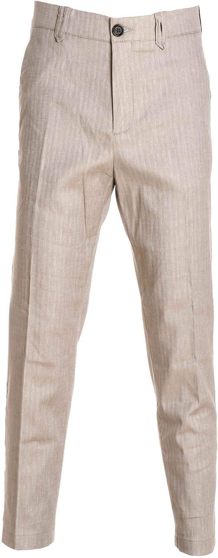 ELEVENTY Men's 979PA0100PAN2300302 Beige Wool Pants