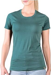 MERIWOOL Women's Merino Wool Short Sleeve T Shirt Lightweight Base Layer