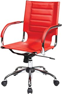 Wood & Style Trinidad Office Chair Red Decor Comfy Living Furniture Deluxe Premium Collection