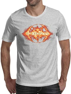 Man Supernatural-Fire-Logo- Cotton Blend Short Sleeve t Shirts