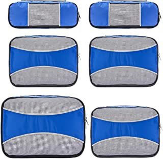 6 Set Packing Cubes for Travel,ZOMAKE Packing Organizers Bag for Carry on Luggage Blue