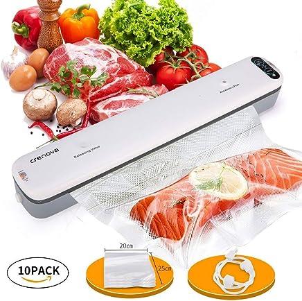 Crenova Vacuum Sealer Food Savers Machine + 10 pcs Vacuum Bags
