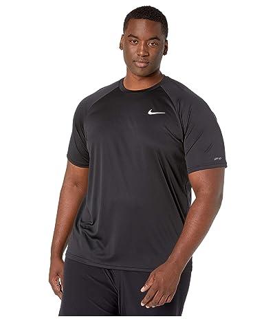 Nike Big Tall Essential Short Sleeve Hydroguard (Black) Men