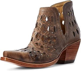 حذاء حريمي غربي مرصع من ARIAT بني اللون