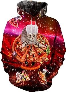 Realistic 3D Print Galaxy Pullover Hooded Sweatshirt Hoodies Big Pockets