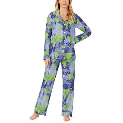 BedHead Pajamas Long Sleeve Classic Notch Collar Pajama Set (Mother Earth) Women