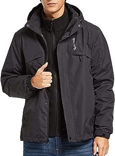 BALEAF Men's 3 in 1 Ski Jacket Waterproof/Windproof Warm Snowboarding Coats with Fleece Liner Jacket Detachable Hooded Rain Jacket