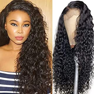 RECOOL 360 Water Wave Lace Frontal Wigs Human Hair Brazilian Wet and Wave Human Hair Wigs Pre Plucked With Baby Hair 100% ...