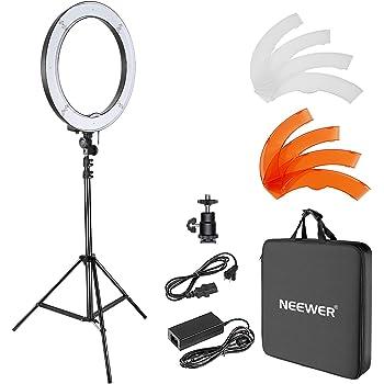 Neewer 18 Pulgadas Anillo exterior Regulable SMD LED Luz Kit fotografía de YouTube Vlog