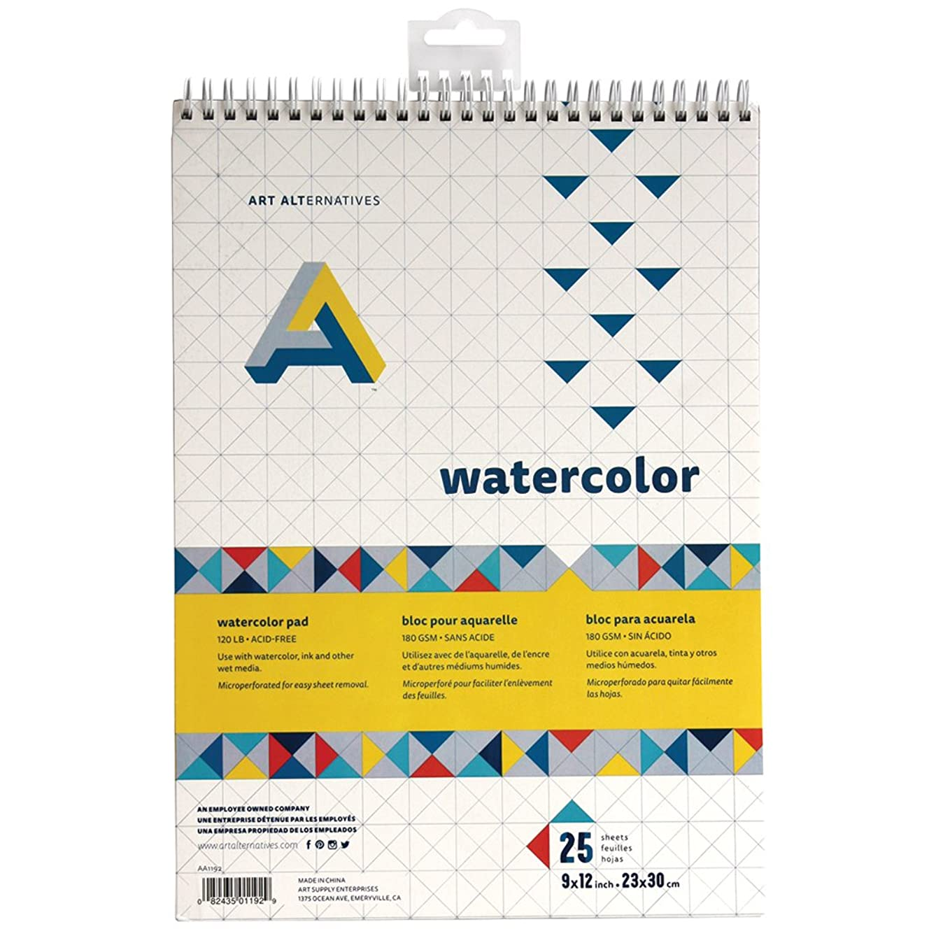 Art Alternatives Spiral Bound Watercolor Pad 9x12