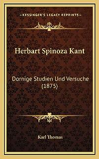 Herbart Spinoza Kant: Dornige Studien Und Versuche (1875)