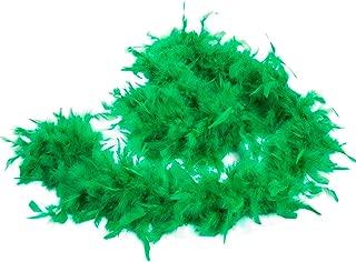 green feather boa