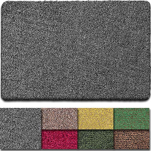 BEAU JARDIN Indoor Doormat Super Absorbent Mud Front Door Mat 36'x24' Latex Backing Non Slip for Front Inside Dirt Trapper Mats Cotton Entrance Rug Shoes Scraper Machine Washable Rug Carpet