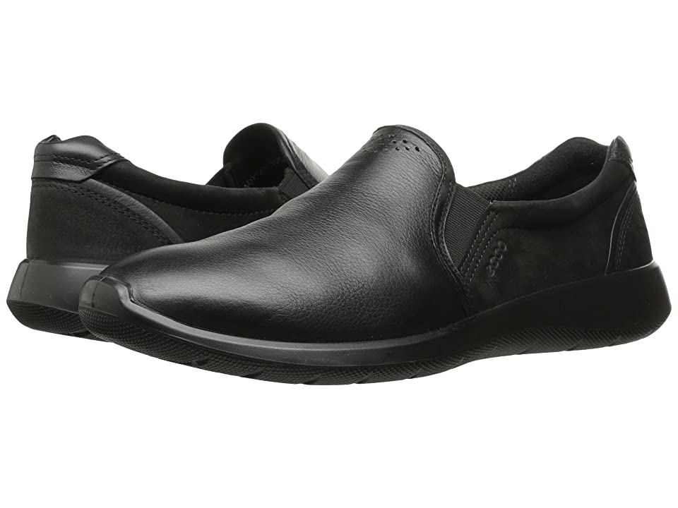 ECCO Soft 5 Slip-On (Black/Black) Women's Shoes