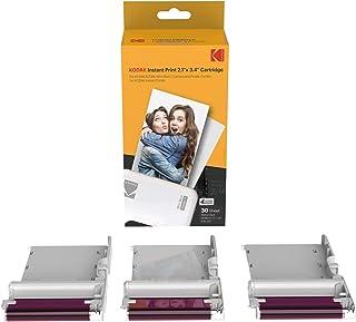 KODAK New Ink Ribbon papier fotograficzny 30 Photo Cartridge do mini drukarek fotograficznych, Shot Combo, biały, druk sub...