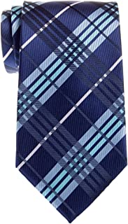 Retreez Stylish Tartan Plaid Check Woven Microfiber Men's Tie - Various Colors