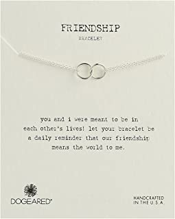 Dogeared - Friendship Double Linked Rings Chain Bracelet