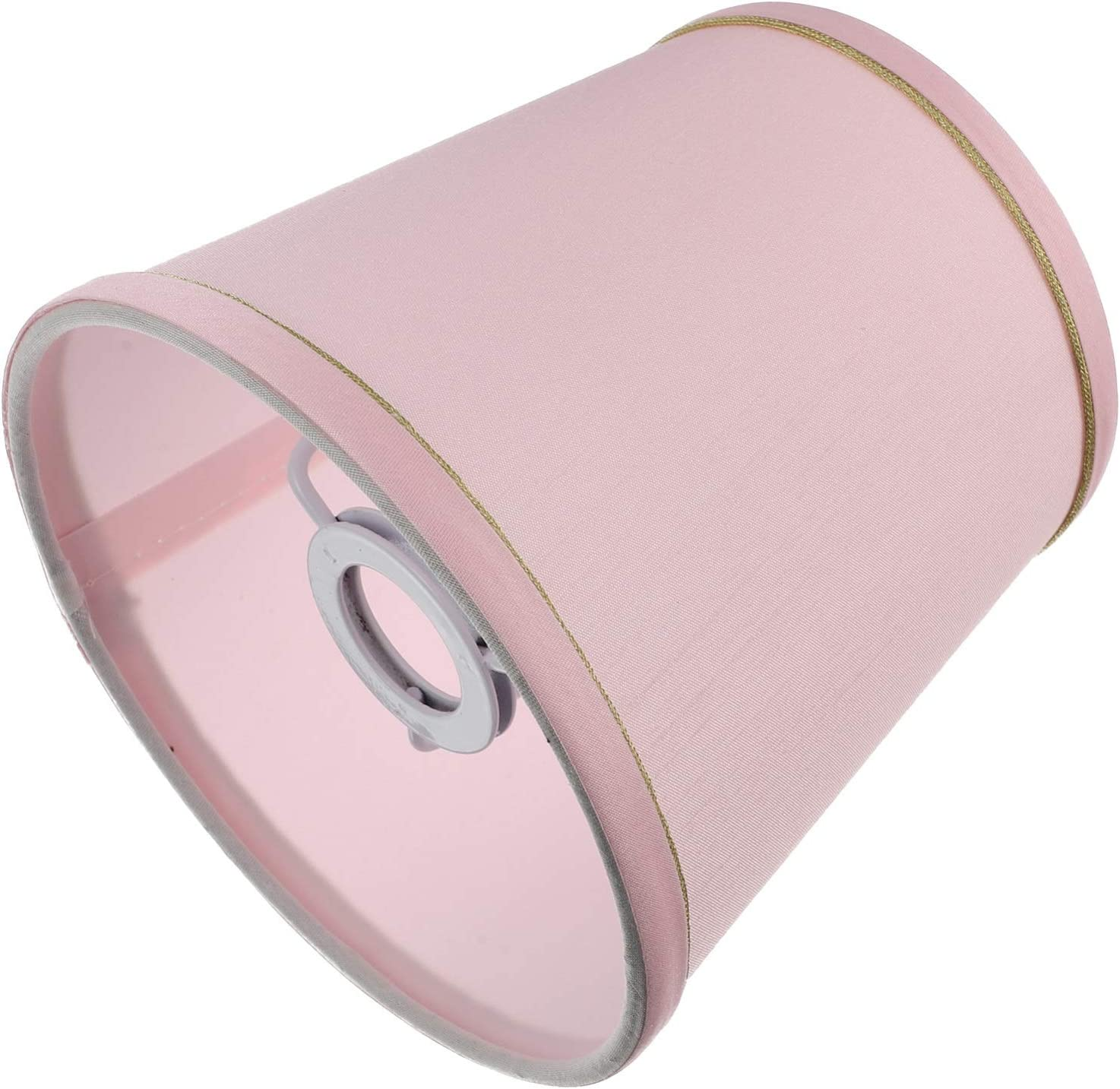 Mobestech Pink Table Lamp Shade Alucset Drum Fabric Lampshade Modern Barrel Light Lamp Shade Cover Chandelier Cloth Fixture Lamp Shade for Home Office