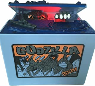 AlienTech Godzilla Monster Dinosaurio Movimiento Musical Niños Electrónicos Banco de Monedas Caja de Ahorro de Dinero Led Piggy Bank