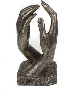 De estilo romántico con escultura de bronce fundido frío manos libres inspirado en la Catedral de gran escultor de Auguste, ideal para regalo de aniversario o boda regalo bronce