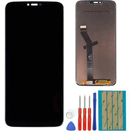 """Replacement LCD Display Compatible for Motorola Moto G7 Power XT1955 6.2"""" LCD Touch Screen Digitizer Assembly with Adhesive and Toolkit (Black)"""