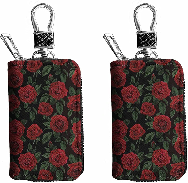 Advocator PU Leather Car Key Chain Sunflower Zipper Key Bag Keyring Case Holder