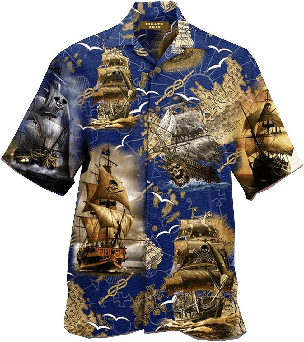 Mythical Creatures Hawaiian Shirts for Men - Vintage America Button Down Mens Hawaiian Shirts Short Sleeve Series 104