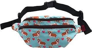 Corgi Dog Gifts Fanny Pack Hip Bag Waist Bag Canvas Bum Belt Hip Pouch Bags