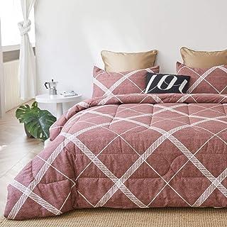 ATsense Lightweight Down Alternative Comforter, 100% Cotton Reversible Duvet Insert for All Season, Ultrasoft&Breathable w...