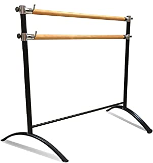 Ballet Barre Portable for Home or Studio, Freestanding Adjustable Bar for Stretch, Balance, Pilates, Dance or Active Workouts, Well-Balanced with Non-Slip Fit, Kids and Adults
