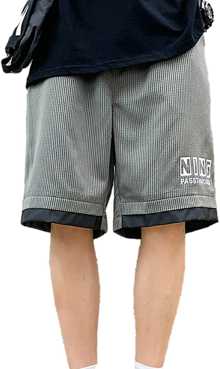 Katenyl Men's Plus Size Year-end annual account Stitching Sports Patchwork Fashio Price reduction Shorts