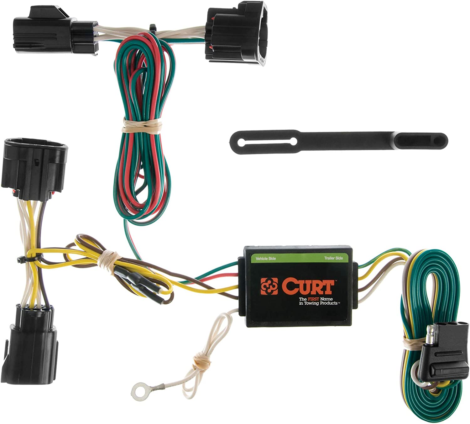 amazon.com: curt 55414 vehicle-side custom 4-pin trailer wiring harness,  fits select jeep commander, except rocky mountain edition : automotive  amazon.com