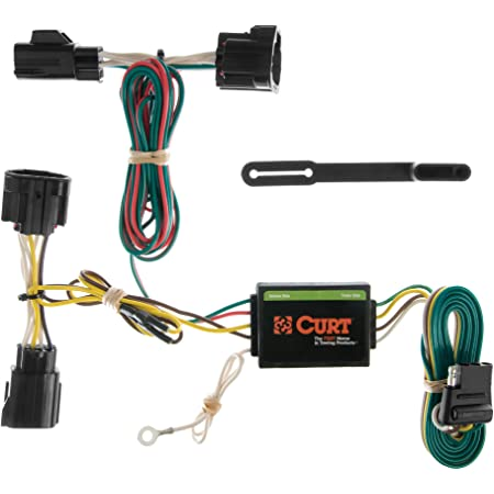 CURT 55363 Vehicle-Side Custom 4-Pin Trailer Wiring Harness for Select Jeep Wrangler