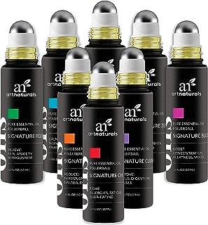 ArtNaturals Top 8 Aromatherapy Essential Oil Blend Roll On 10ml Set - Blends Assists with Sleep, Headache, Calming, Moods ...