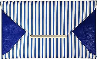 JNB Striped Envelope Clutch