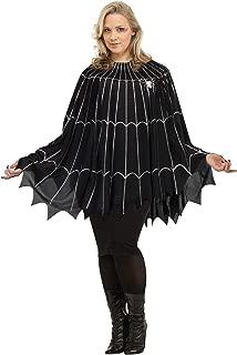 Spider Web Poncho Plus Size Costume