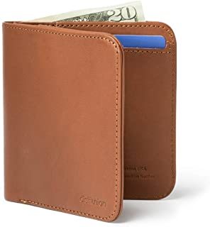 Distil Union Wally Agent Minimalist Bifold Genuine Leather Wallet (Hickory)