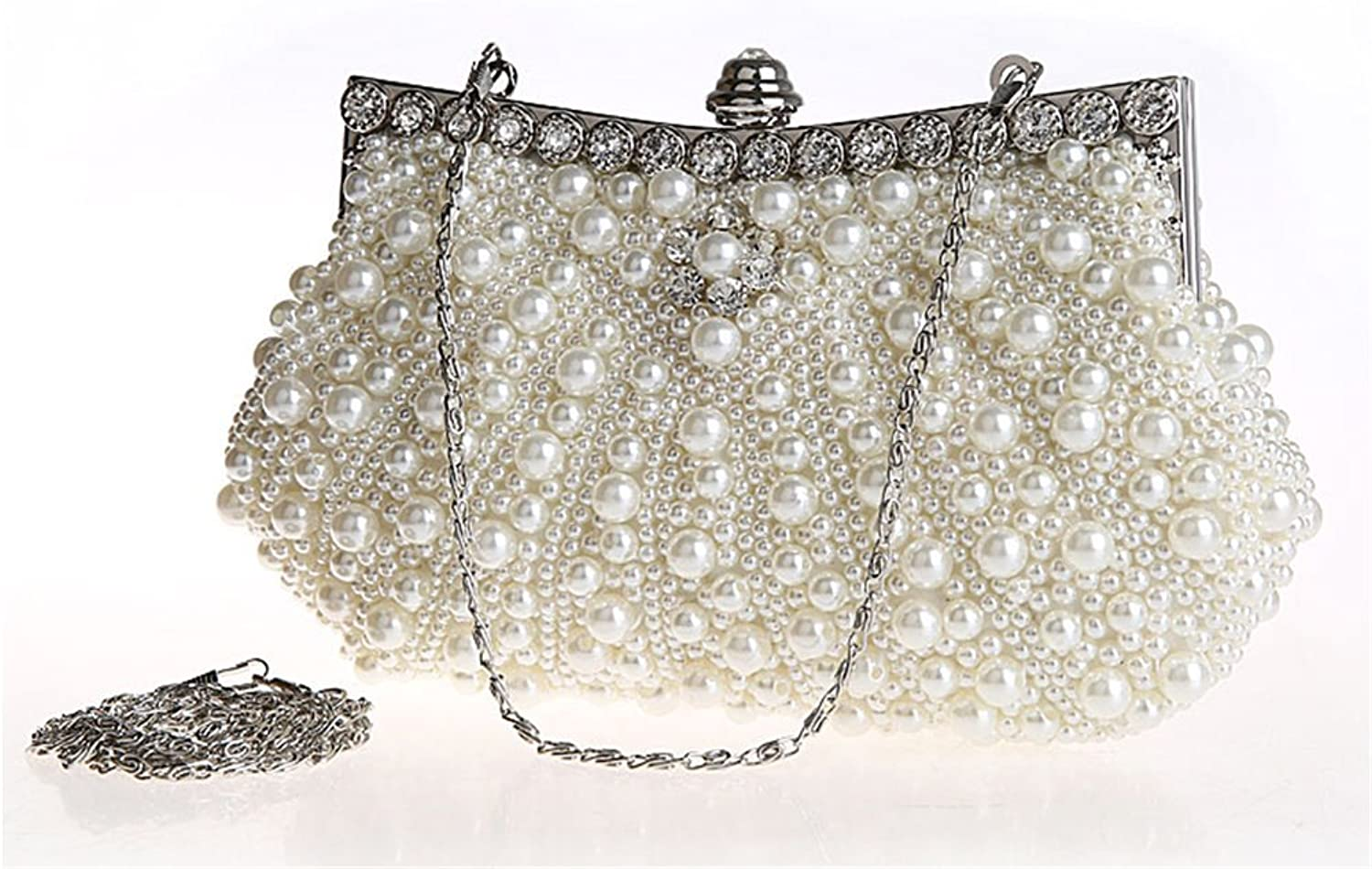 Kingluck Satin with Pearl and Diamond Wedding Special Occasion Evening Handbags Clutch