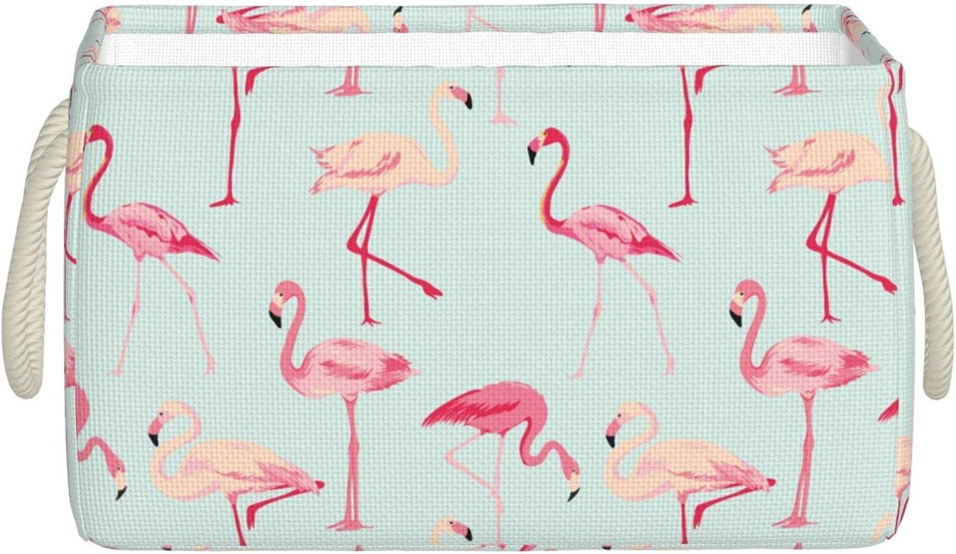 Flamingo Large Jacksonville Mall Storage Bin Bombing new work Bins Closet Foldable