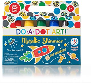 Kids Washable Dot Art Markers - New Metallic Shimmer Paint Daubers Non-Toxic for Children, Toddlers Preschool and Kinderga...