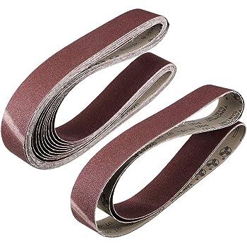 pulido de metal 5 bandas de lijado de /óxido de aluminio para lijadora de cintur/ón carpinter/ía BE-TOOL