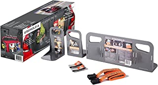 STAYHOLD Super Pack Car Trunk Organizer, Adapts to Hold Any Size or Shape Item | Sticks to Carpet with Hard Gripping VELCRO Brand Technology | Cars, Trucks, SUV, Minivan & Boats | 7 Piece Set - Gray