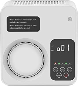 Ozone Generator,POLAME Home Air Purifier Odor Cleaner Deodorization Sterilizer for Rooms Smoker Dust Allergies and Pet,etc (WHITE)