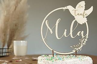 Cake Topper Taufe I Kommunion I Konfirmation I Glaube I Kuchentopper I Kuchen Topper I Caketopper Name