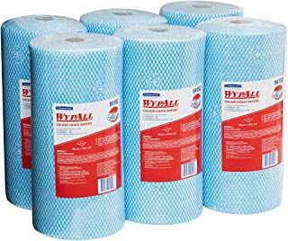 WypAll Colour Coded Wiper Rolls,  Blue,  106 Wipers/Roll,  Case of 6 Rolls