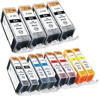 Sophia Global Compatible Ink Cartridge Replacement Set for Canon PGI-220 CLI-221 (Pack of 12: 4 PGI-220 Large Black, 2 CLI-221 Small Black, 2 Cyan, 2 Magenta, 2 Yellow)