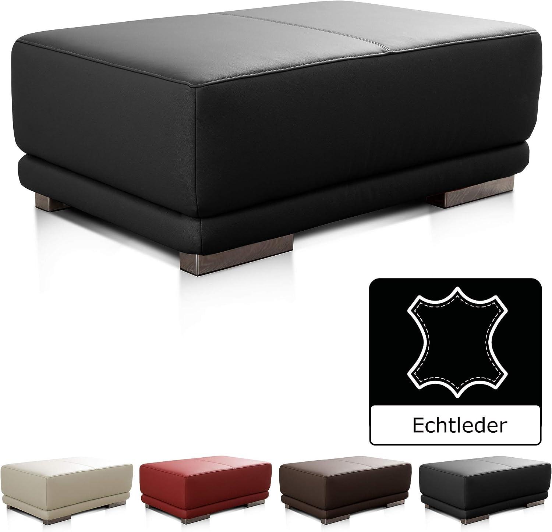 CAVADORE Lederhocker Corianne   Rechteckiger Sitzhocker in Echtleder   103 x 41 x 69   Echtleder schwarz