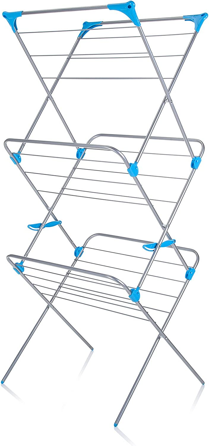 Minky Homecare Spasm price Trio Concertina Drying Silver Be super welcome 49' Rack