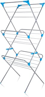 Minky Homecare Trio Concertina Drying Rack, 49', Silver
